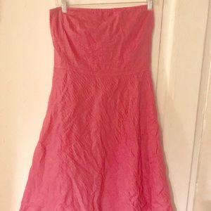 Pretty in Pink J Crew Strapless dress